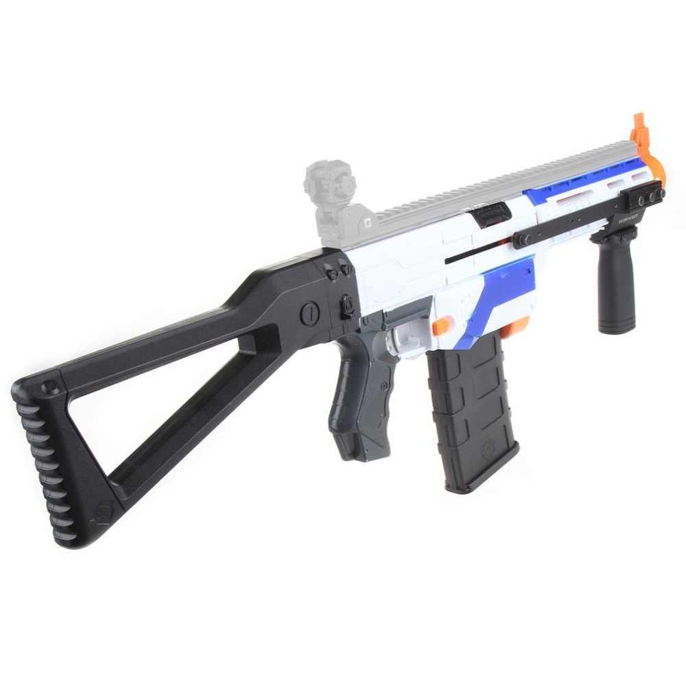 WERKNEMER 3D Afdrukken Modulaire Modieuze Stijl Hoge Sterkte Plastic Mod Zwarte Pomp Kits Combo 5 Items Voor Nerf RETALIATOR Speelgoed
