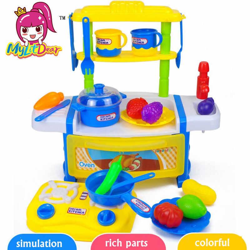MylitDear новый стиль игровой дом кухонная посуда настольные игрушки имитирующие