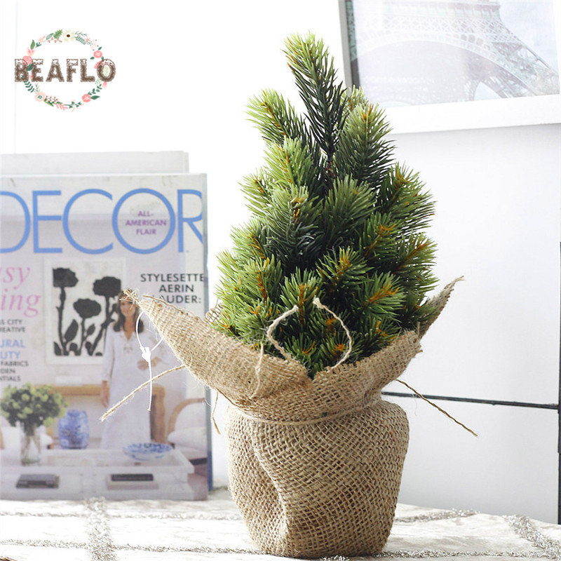 1 компл. Мини зеленый Книги по искусству Ificial завод Рождество елка в горшке шелк Книги по искусству цветок Карликовые деревья для свадьбы дом…