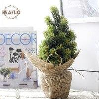 1 مجموعة مصغرة بوعاء النباتات الخضراء شجرة عيد الحرير الفن زهرة بونساي للمنزل الزفاف الطرف الديكور