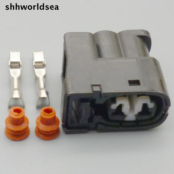 shhworldsea 100sets 2Pin Ignition Coil Connector Case For <font><b>Toyota</b></font> <font><b>1JZ</b></font> <font><b>2JZ</b></font> <font><b>1JZ</b></font> GTE <font><b>2JZ</b></font> GTE for Lexus SC300 for Mazda RX7 S6/7/8 image