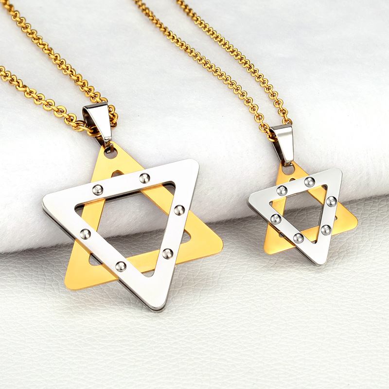 SOITIS Magen Star of David Hexagram Pendant Israel Jewish Judaica Jewelry Necklace Stainless Steel Women Men Unique Chain israel and the politics of jewish identity