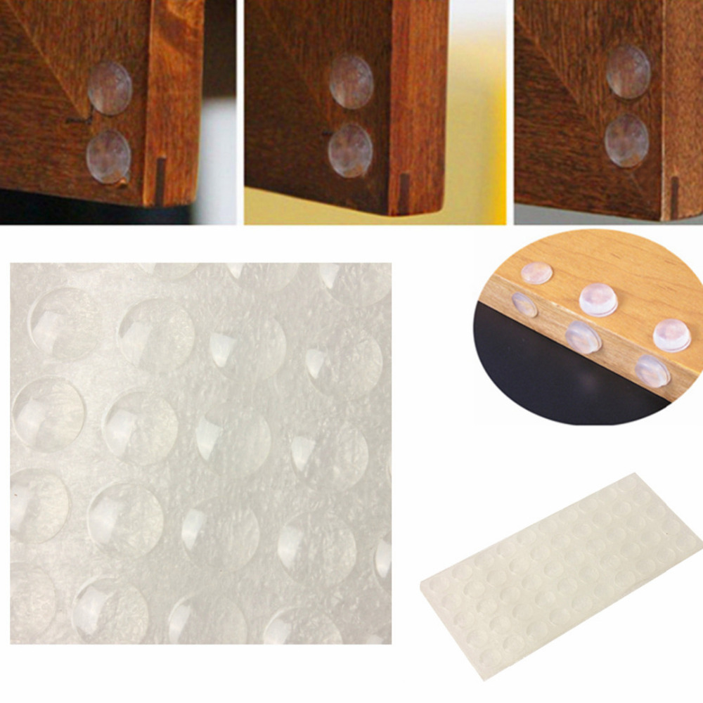 Wonderful 100PCS Self Adhesive Rubber Door Buffer Pad Clear Feet Semicircle Bumpers  For Door Accessories(China