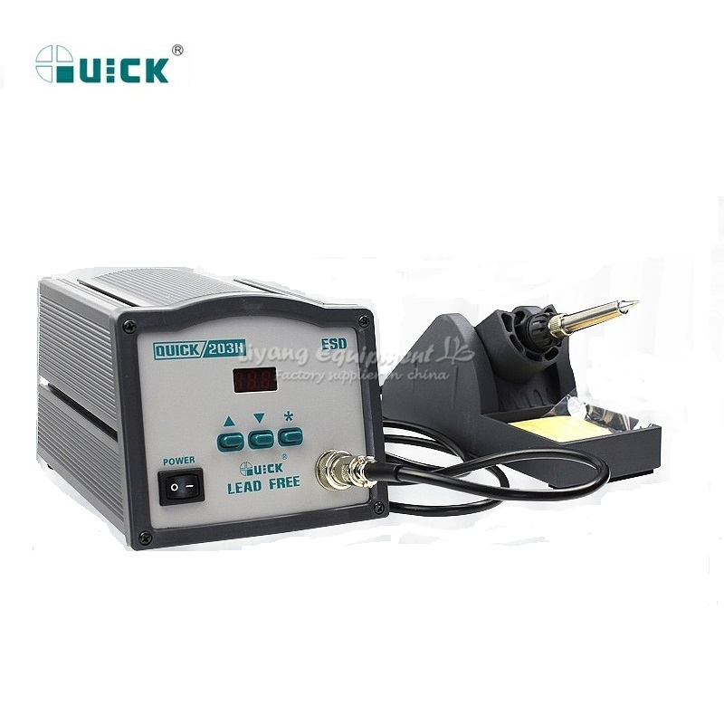 Image 2 - 90W Quick 203H Intelligent high frequency BGA solder station 110V/220V welding station-in Soldering Stations from Tools