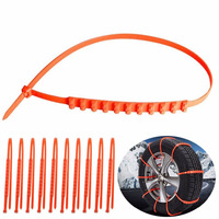 10pcs Anti Skid Chains Traction Wires Winter Protection Tyres Wheels For Cars Snow Wheel Thickened Tire