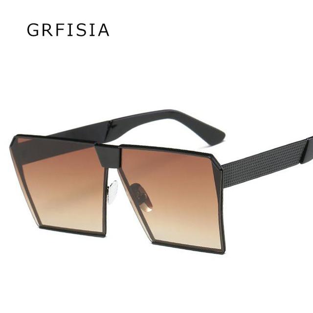 7b481cfbc5 GRFISIA High Fashion Sunglasses Women Men Brand Designer Retro 90s Square  Sun Glasses Ladies Oversized Gradient Shades UV G378