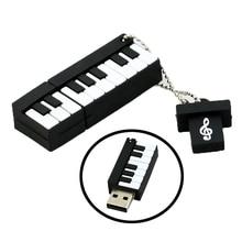 free shipping 4GB 8GB 16GB 32GB 64GB Retail Genuine Silicone Piano USB Flash Drive Thumb Pen drive Memory Stick Flash Disk