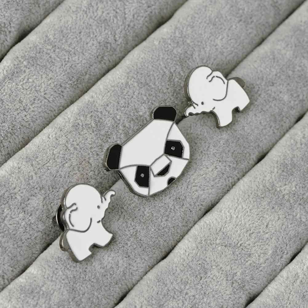 Baru Wanita Pria Bros Lovely Panda Gajah Pin Breastpin Perhiasan Selendang Syal Dekorasi