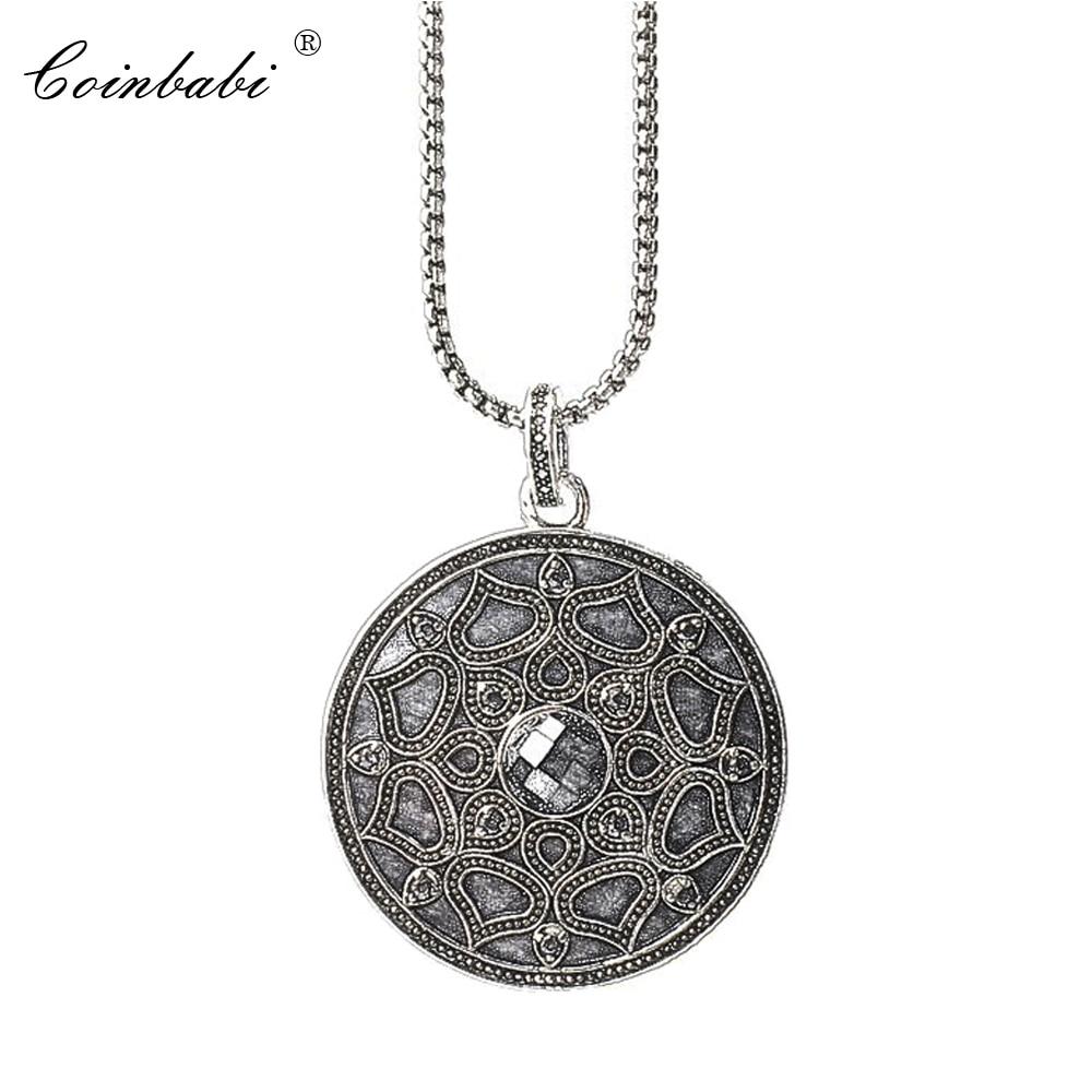 be561fa803bc Enlace cadena colgante collar loto negro regalo para las mujeres estilo  Thomas de Plata de Ley 925 de moda de Cristal de Bohemia joyería