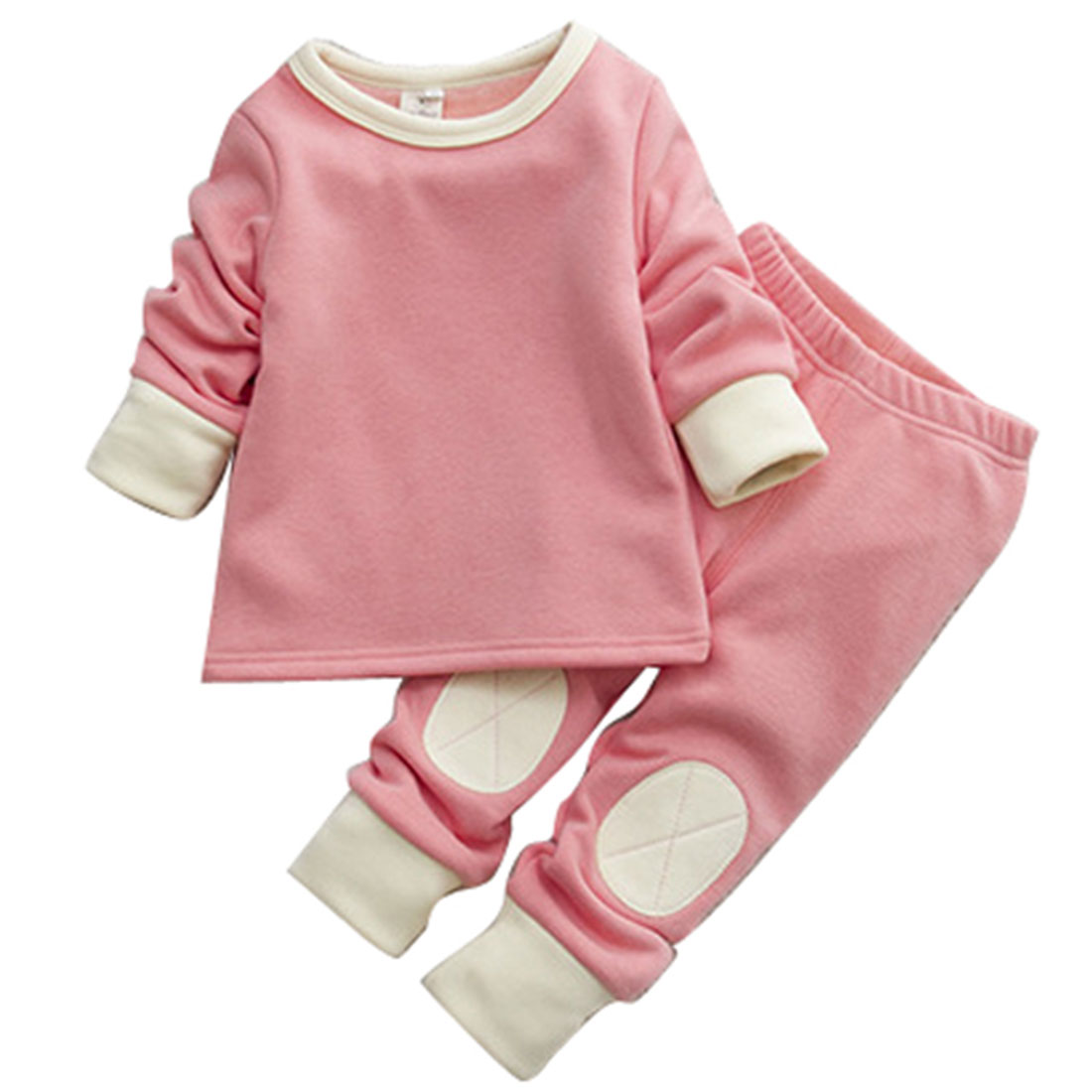 Baby Boys Girls Infant Warm Clothing Sets Cotton 2017 New Autumn Winter Long Sleeve Shirt + Long Pants Lovely Cute Pink Coffee
