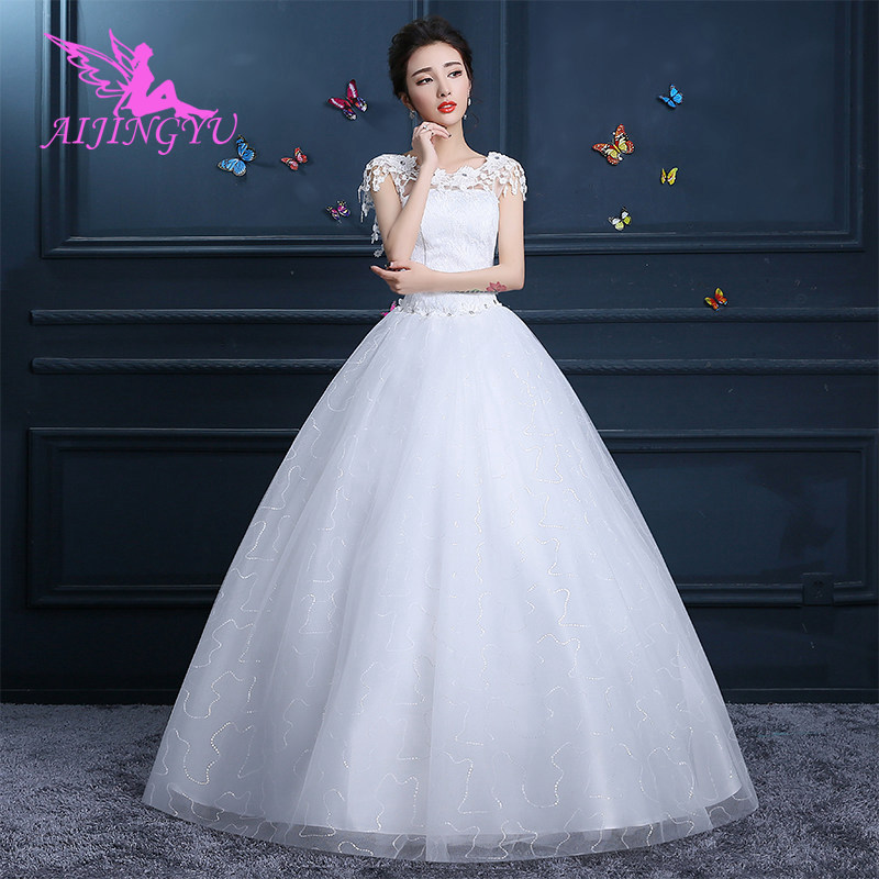 AIJINGYU 2018 mermaid free shipping new hot selling cheap ball gown lace up back formal bride dresses wedding dress FU115
