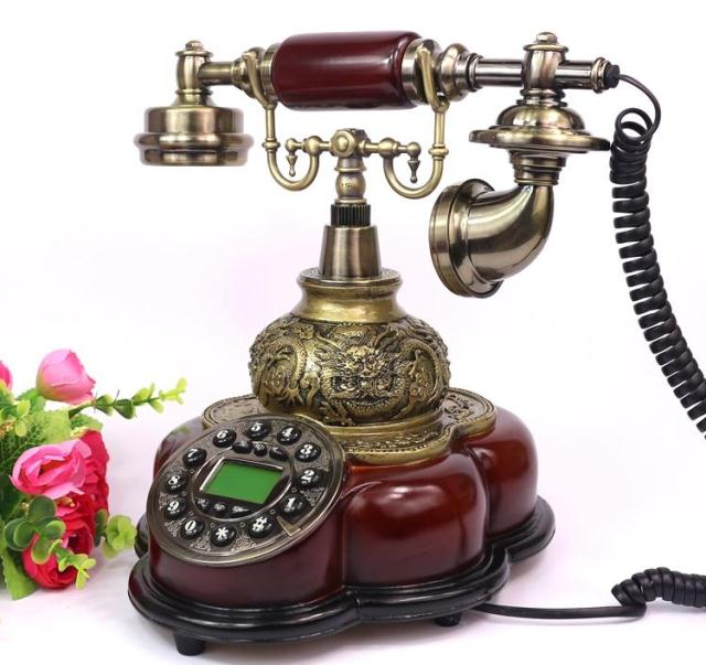 Ye are the top antique family retro European Garden telephone Decoration home art phone Caller ID backlit Rotary Dial