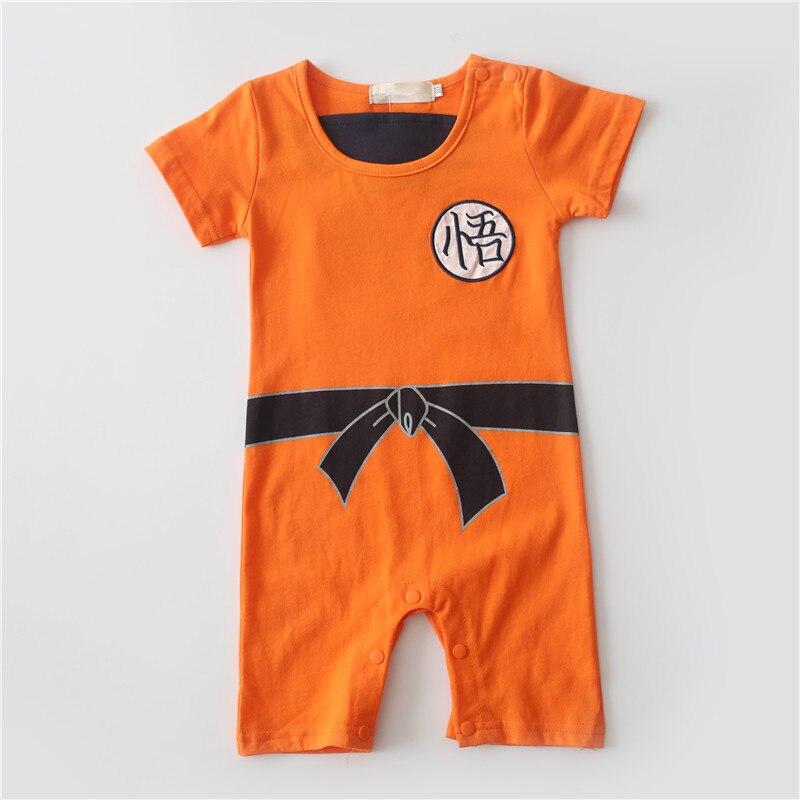 BURFLY Baby Boys Girls Goku Costume Short Sleeve Dragon Ball Romper Jumpsuit Bodysuit Costume