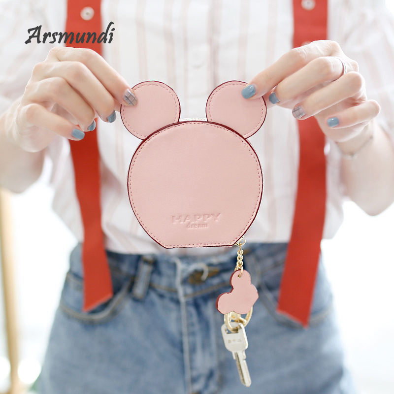 Arsmundi Women Leather Coin Purse Doll Small Wallet Mini Cute Student Storage Bags For Girls Carteira Feminina Card Bag Coin Bag app blog cute cartoon totoro women men credit id card holder case extendable bags small wallet coin purse carteira feminina muje