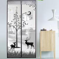 2 Color Curtain Anti Mosquito Magnetic Tulle Shower Curtain Automatic Closing Door Screen Summer Style