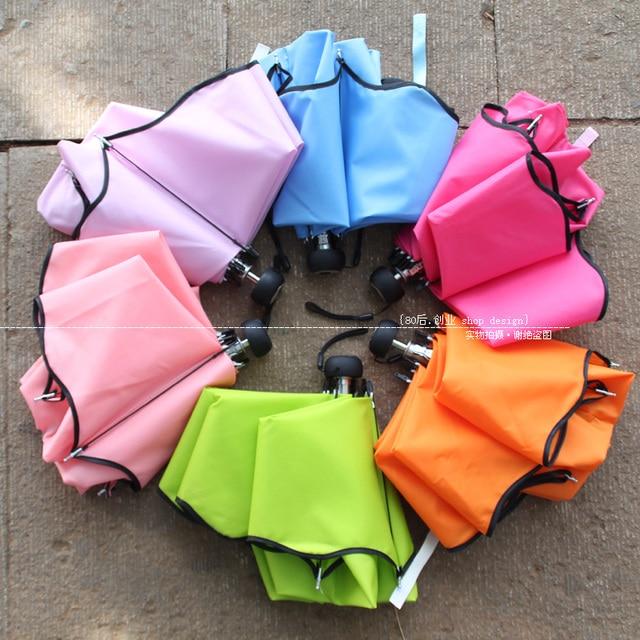 Free Shipping Umbrella apollo princess solid color umbrella border umbrella logo