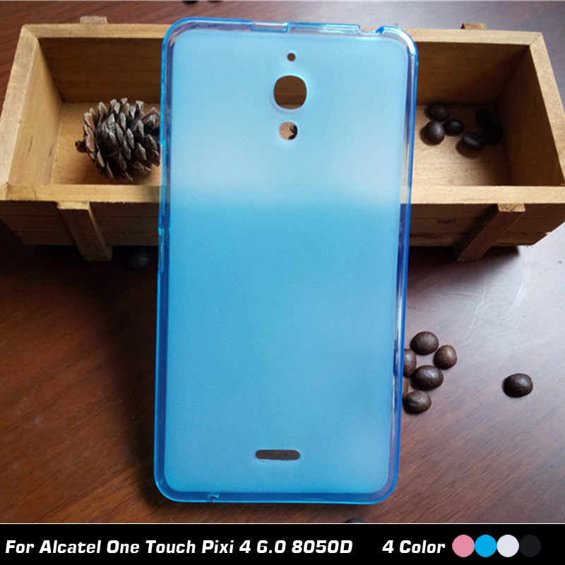 cf684b9ee Новые Матовые ТПУ чехол для Alcatel One Touch Pixi 4 6.0 8050D силиконовый  чехол 6 мягкий защитный телефон сумка с подарок 8050