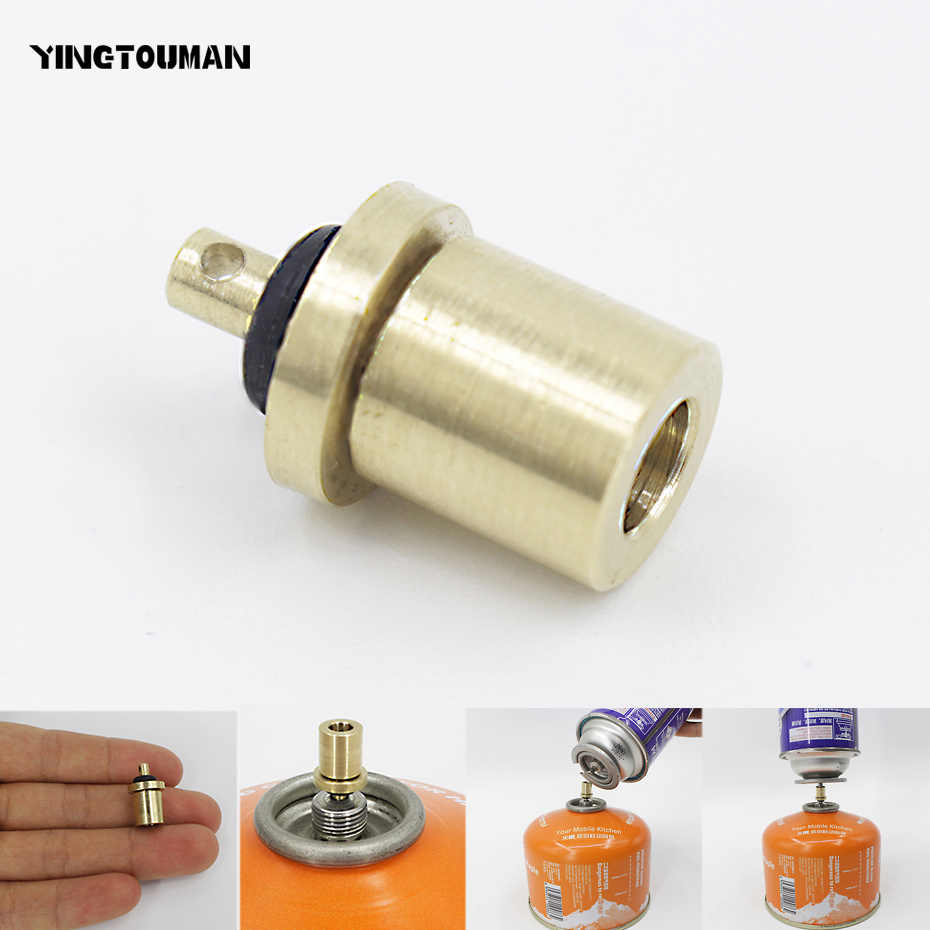 Outdoor Camping Stove Connector Gas Refill Adapter Parts for Butane Canister CF