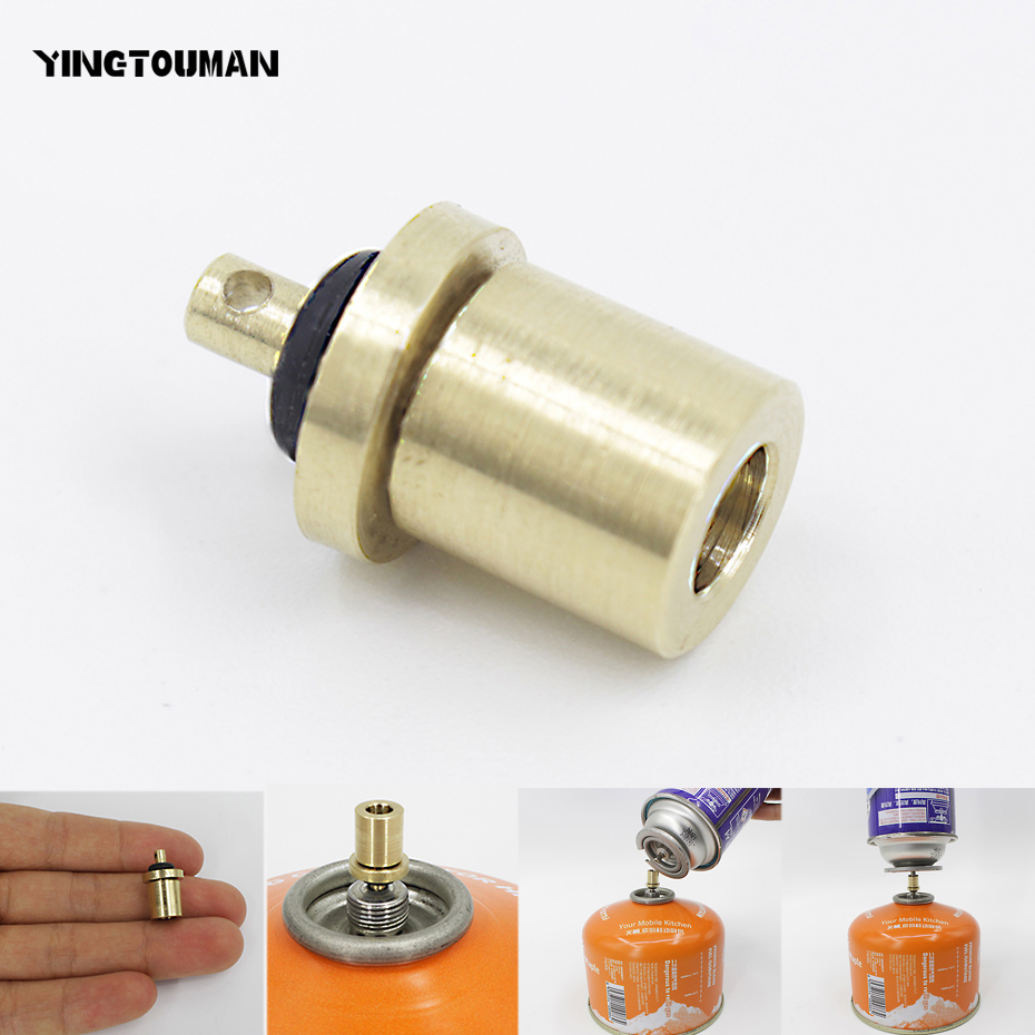 Yingtouman adaptador de recarga gás acampamento ao ar livre fogão cilindro gás acessórios do queimador gás caminhadas inflar butano vasilha