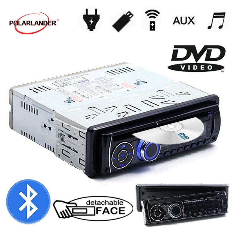 BT autoradio Bluetooth stéréo 1 DIN panneau amovible Audio musique CD DVD lecteur MP3 FM AUX en USB carte SD avec télécommande