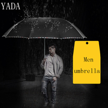 YADA Custom Charm Solid Color Folding Umbrella Rain Women uv High Quality For Men Brand Windproof Umbrellas YS312