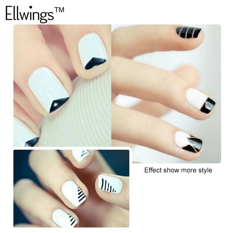 Ellwings 2pcs French Manicure Black White Nails Gel Polish 2 Colors ...