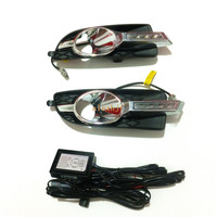 Super Bright OSRAM Led Chips Daytime Running Lights DRL With Fog Lamp Cover For 2010 2013