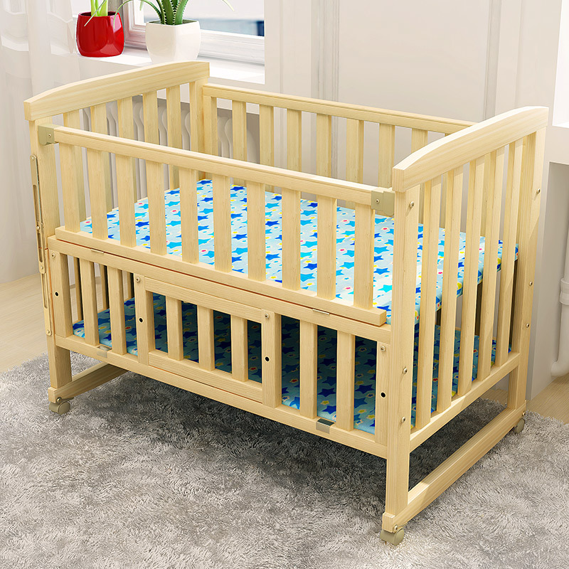Solid Wood Newborn Baby Bed Multifunctional Cradle Children Baby Playpen Crib Wooden Bed Mosquito Net fashion electric baby crib baby cradle with mosquito nets multifunctional music baby cradle bed