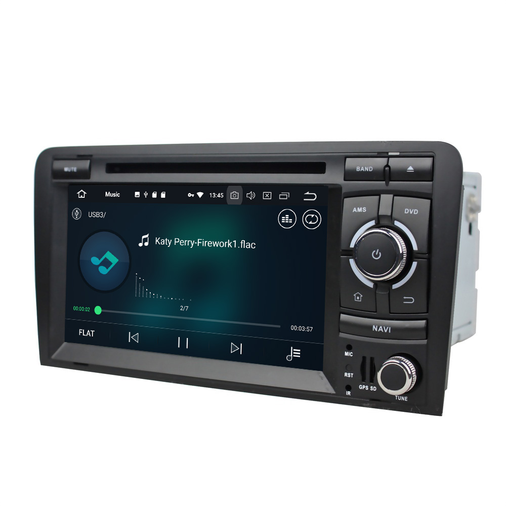 Android 8.0 Octa Core 7 Car Multimedia DVD GPS Head Unit for Audi A3 S3 RS3 2002-2011 RAM Radio Bluetooth WIFI USB Mirror-link