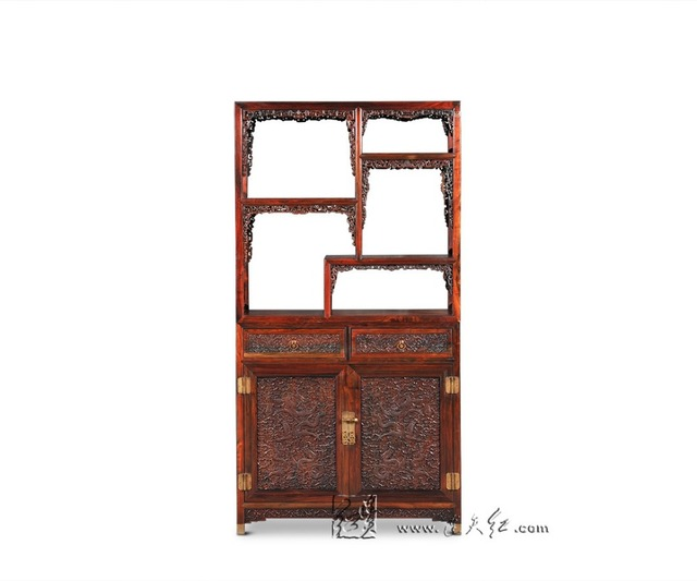 Chinese Mingu0026Qing Classical Furniture Curio Storage Cabinets Solid Wood  Bookcase Living Room Stand Rack Office Filing