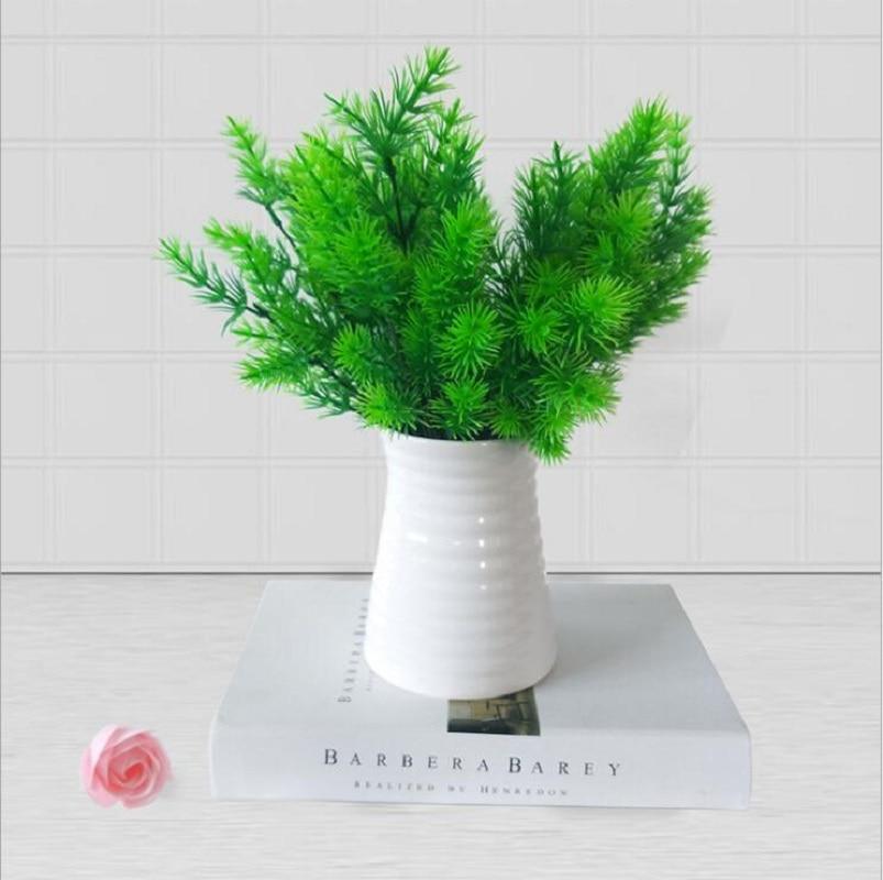 Artificial flower fake flower plastic flower green plant home garden decoration small pine tree Milan grass Milan tree
