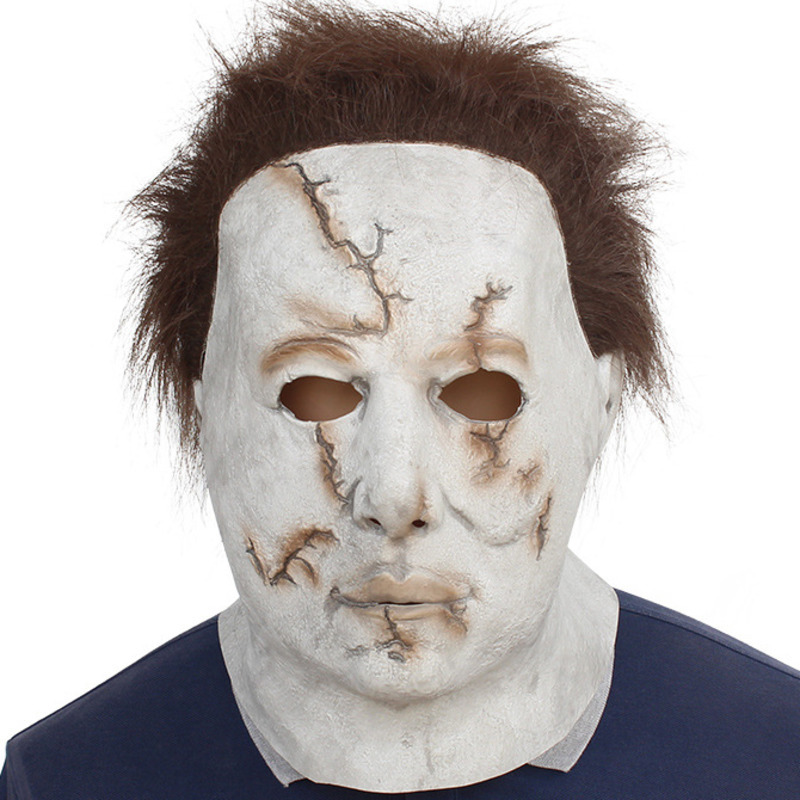 Scary MichaelMyers Mask Horror Movie Halloween Cosplay Adult Latex Party Mask