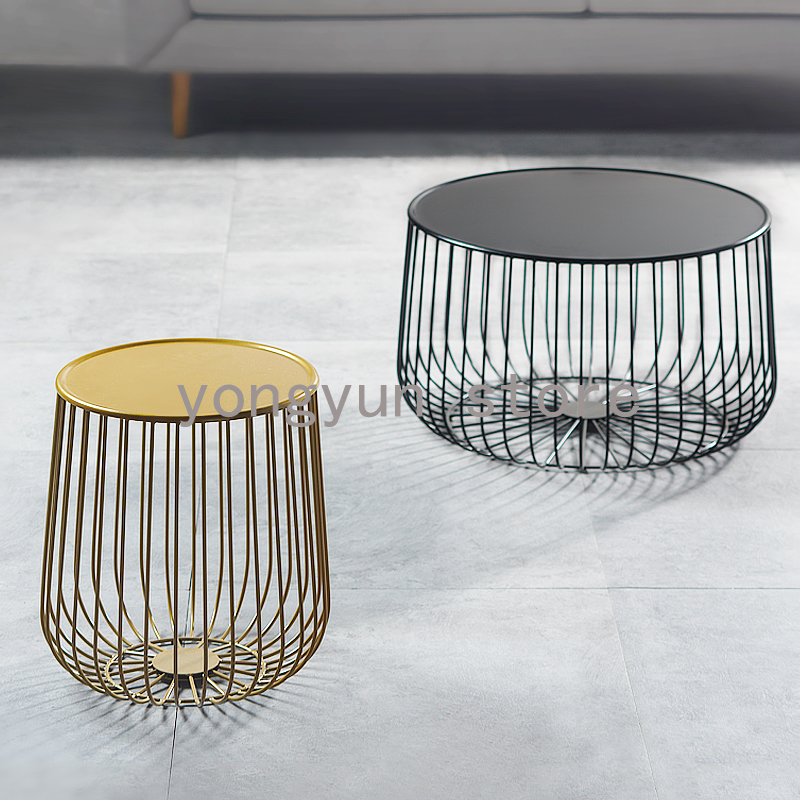 Gold Metal Round Coffee Table.Us 188 0 Home Furniture Minimalist Modern Design Pumpkin Black And Gold Metal Round Tea Table Living Room Furniture Side Coffee Table In Coffee