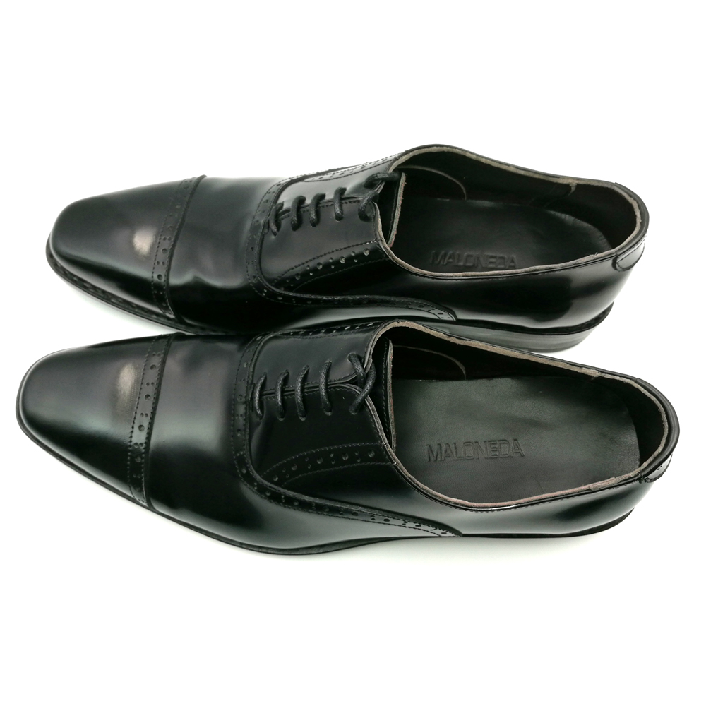 SP51 - Zapatos Oxford de cuero genuino de los nuevos hombres marrones - Zapatos de hombre - foto 5