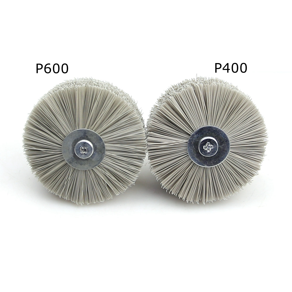 Image 5 - 4 pieces 85*35*6mm Drill Abrasive Wire Grinding Wheel Nylon Bristle Polishing Brush for Wood Furniture Mahogany Finish-in Abrasive Tools from Tools