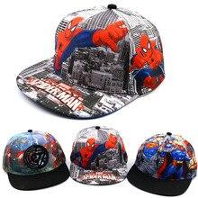 Коллекция года, летняя шапка для маленьких мальчиков и девочек, Кепка в стиле хип-хоп с изображением Человека-паука, новые уличные бейсболки для девочек, Весенняя Детская кепка, детская бейсболка