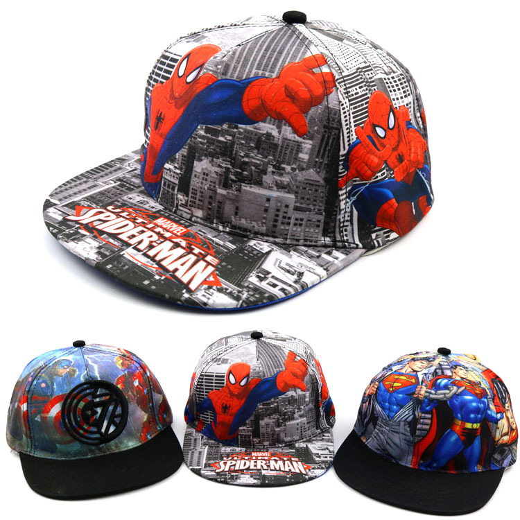 2019 summer Baby boy and girl hat Cartoon spiderman hip hop hat new girl outdoor   baseball     caps   spring child hat kids Snapback