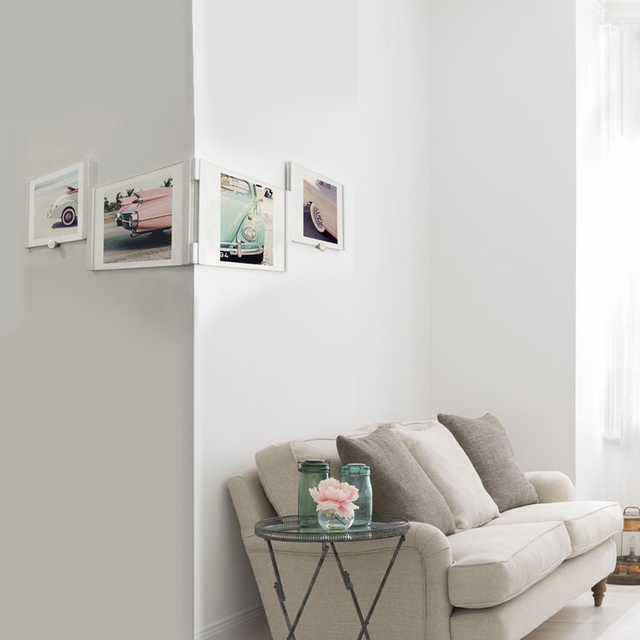 Leggy Horse 5 X7 4pcs Set Diy Collage Photo Frames Removable Acrylic Picture Frame Hanging Wall Art Home Decor Gift