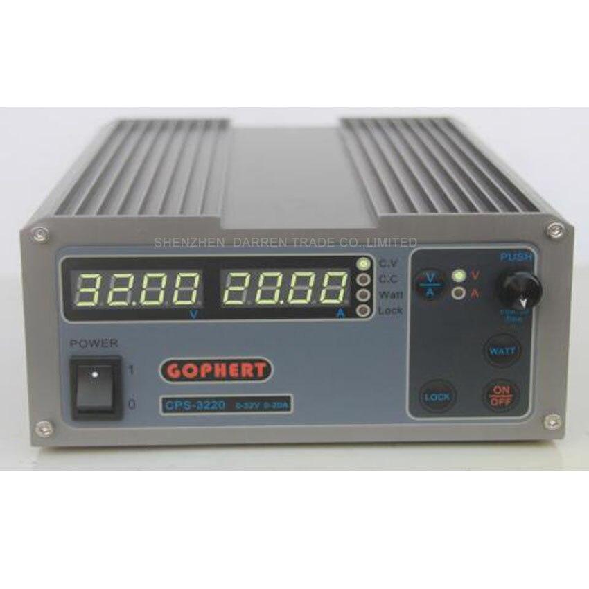 1 PC CPS-3220 Precision Compact Digital Adjustable DC Power Supply OVP/OCP/OTP Low Power 32V20A 220V 0.01V/0.01A mini compact precision digital adjustable dc power supply cps3010 30v10a with ovp ocp otp dc power 0 01a 0 1v