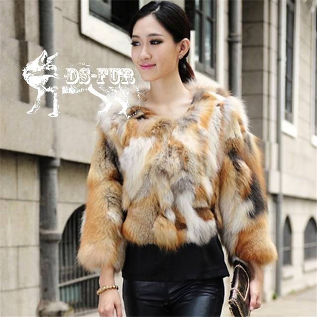 a0808382c Winter Real Red Fox Fur Jackets Women Genuine Fur Coat Warm Outerwear Real  Fur Female Jacket Ladies' Casual Coats