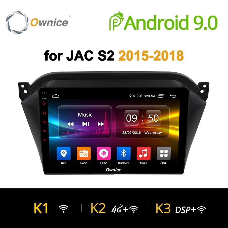 Ownice K1 K2 K3 10.1 polegada Android 9.0 gravador de DVD Do Carro Para JAC S2 2015 ~ 2018 GPS Navigation Radio ligação espelho núcleo octa 2G + 32G