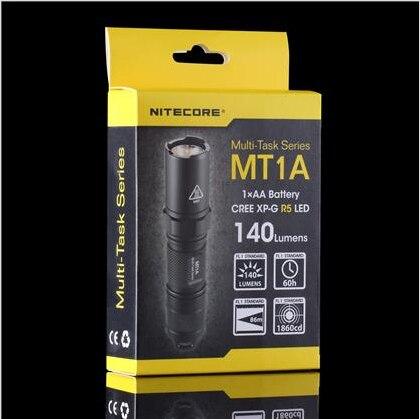 1pc Nitecore MT1A Flashlight Cree XP G R5 LED 3 Flashlight Mode 140 Lumens Mini LED