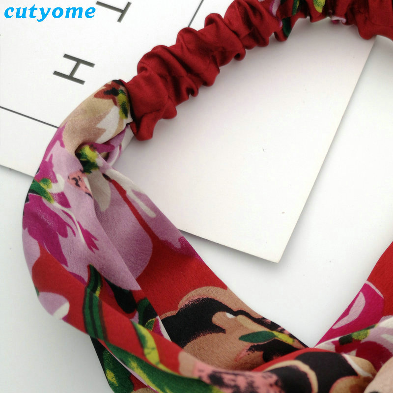 Family Mother and Daughter Floral Headband Summer Bohemia Women Girls Elastic Headwraps Family Matching Hair Accessories Set (15)
