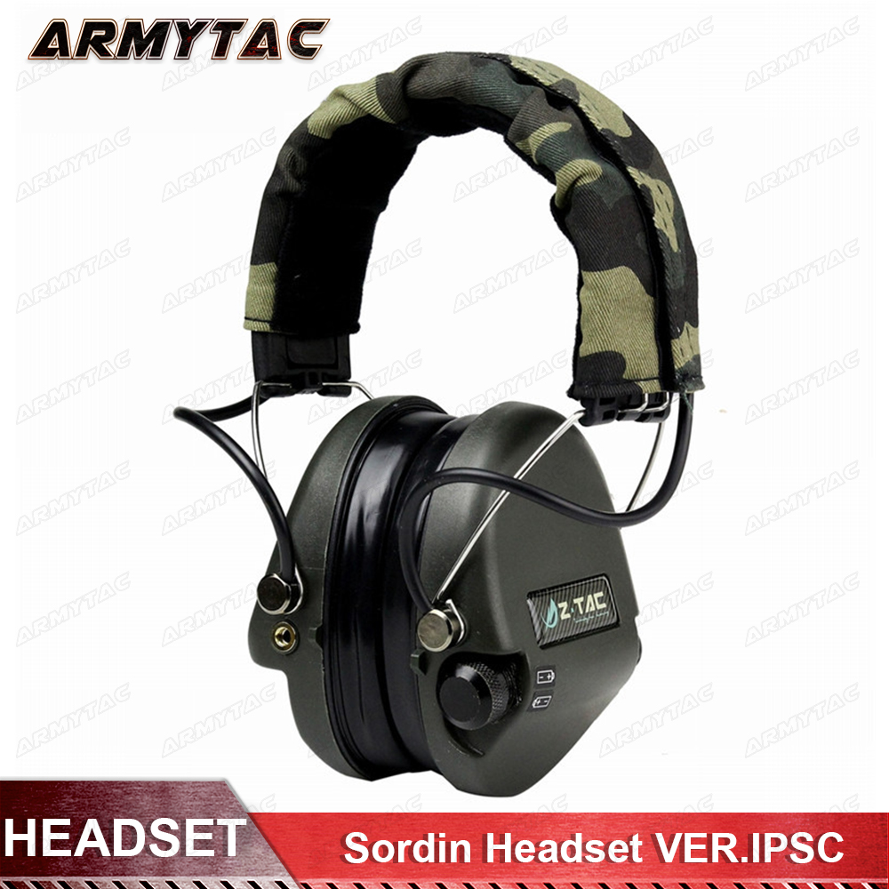 Z-Tactical Tactical Noise Reduction Headset Airsoft Paintball Hunting Headsets Zsordin Headset VER.IPSC Headphone Ear Cover Z037 цена 2017