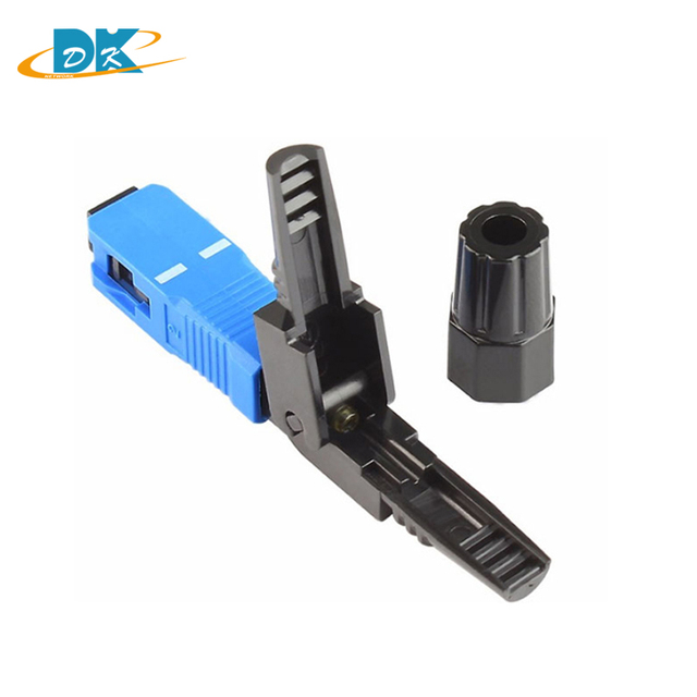 100PCS FTTH SC UPC Fast connector single-mode SC/UPC quick connector Fiber Optic cold Fast Connector SC Connector