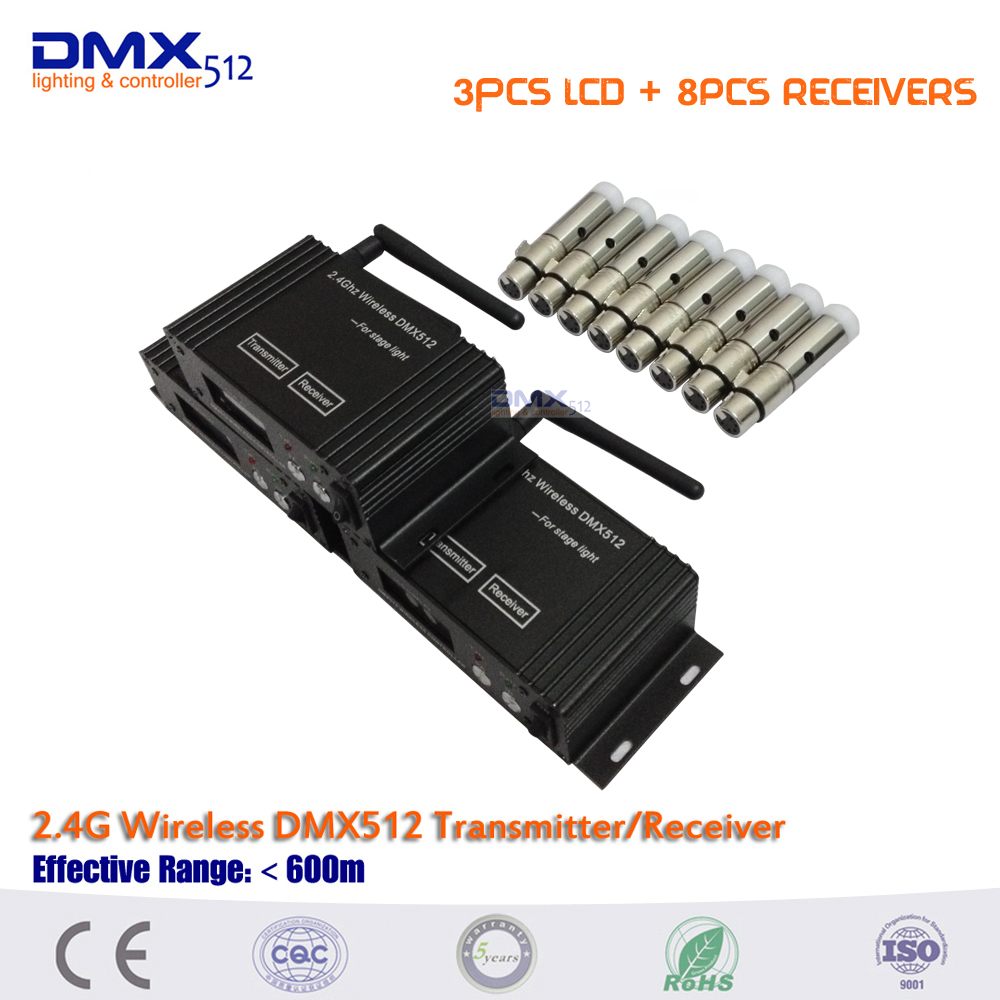 DHL Free shipping 11pcs/lot  2.4Ghz DFI LCD display Wireless DMX512 Transmitters and MINI receiver for led battery lighting rakesh kumar ameta and man singh quatroammonimuplatinate and anticancer chemistry of platinum via dfi
