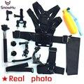 GoPro аксессуары 13 в 1 Семейный Комплект Go Pro SJ4000 SJ5000 аксессуары набор пакетов для GoPro HD Hero5 5S 3 3 + 4 xiaomi yi GS39