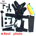 GoPro accessories 13 in 1 Family Kit Go Pro SJ4000 SJ5000 accessories set package for GoPro HD Hero5 5S 3 3+ 4 xiaomi yi GS39