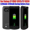20 unids/lote Fedex Envío 5200 mAh 4200 mAh Banco de la Energía de Reserva Del Cargador de Batería caja de batería para samsung galaxy s7 edge g935 s7 g930 S715