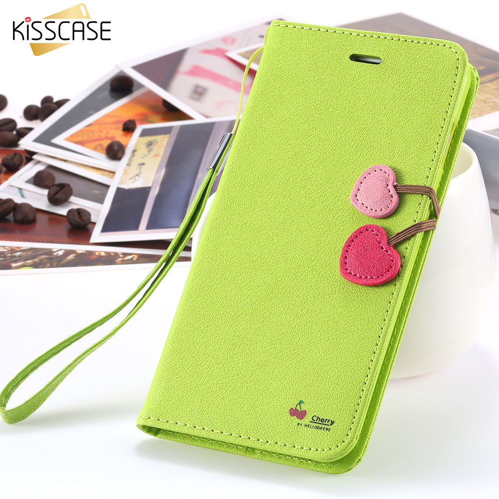 wholesale dealer ae472 bce93 Leather Samsung S5 S6 S7 Edge Cases Cherry Wallet Flip Cover For Samsung  Galaxy S6 S7 Edge S5 Funda Coque Capa